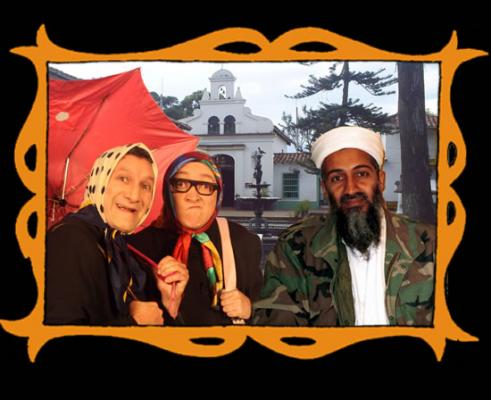 con Osama Bin Laden