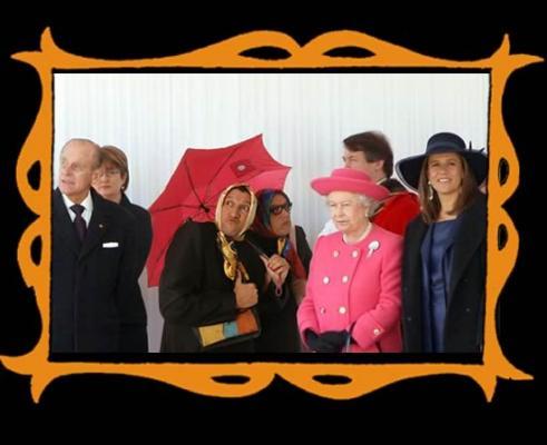con La Reina Isabel II