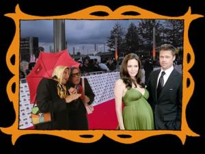 con Angelina y Brad