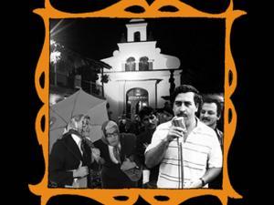 con Pablo Escobar