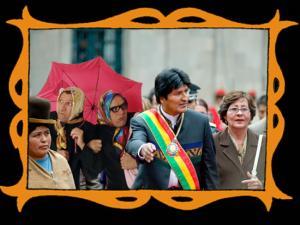 con Evo Morales